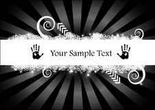 Abstract black design vector. With bright rays and hand shapes Royalty Free Stock Photography