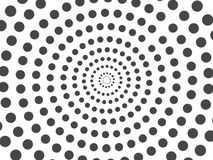 Abstract black dots halftone circle isolated on white background. stock illustration
