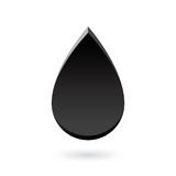 Abstract black drop icon Royalty Free Stock Photography