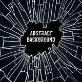 Abstract black effect background. Abstract background with the effect of broken glass. Black broken glass background vector illustration vector illustration