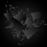 Abstract black explosion. Vector illustration. Stock Photos