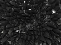 Abstract black faceted background. Three dimensional abstract black faceted background Royalty Free Stock Photos