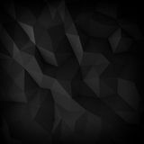 Abstract black faceted backgrounds Royalty Free Stock Photo