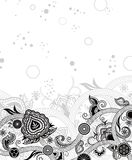 Abstract Black Floral Royalty Free Stock Photos