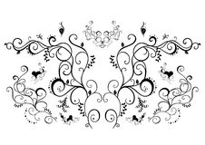 Abstract black floral ornament. Illustration of abstract black floral ornament Royalty Free Stock Image
