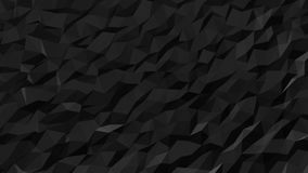 Abstract Black Fluid Low Poly Pattern. Seamless looping Background Pattern Motion Design stock video footage