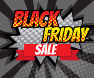 Abstract Black Friday Sale Advertise Pop art, Comic Book Royalty Free Stock Photos