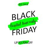 Abstract Black Friday-verkoopontwerp stock illustratie