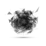 Abstract black geometric explosion. Vector speech Royalty Free Stock Images