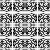 Abstract black geometric patterns on a white background. Royalty Free Stock Images