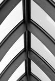 Abstract black geometric roof Royalty Free Stock Image