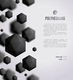 Abstract black geometric shapes on bright Stock Images