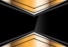 Abstract black glossy in gold silver arrow design modern futuristic creative background vector. Stock Photo