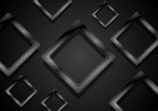 Abstract black glossy squares vector background Stock Photography