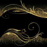 Abstract black and gold background Royalty Free Stock Images