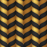 Abstract black and gold seamless pattern Stock Photography