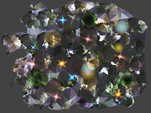 Abstract black and gray background reminiscent of. Glowing background with diamond glitter Stock Photo