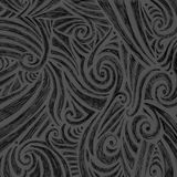 Abstract black and gray hand drawn doodle ink sketch with random curls swirls and line design pattern, cute abstract fun art Royalty Free Stock Photos