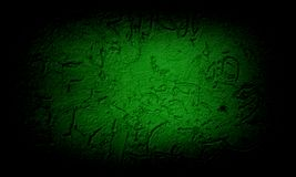 Abstract black and green texture background. Abstract black and green background grunge background texture design with elegant antique paint on wall royalty free illustration
