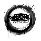 Abstract black grunge background with ink splash and strokes� Stock Photography
