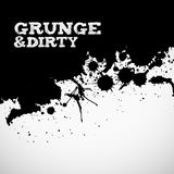 Abstract black grunge background. Abstract black grunge ink splats background Stock Image