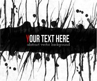 Abstract black grunge background with place for your text on white.  Stock Images