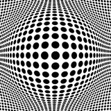 Abstract Black Halftone Background royalty free illustration