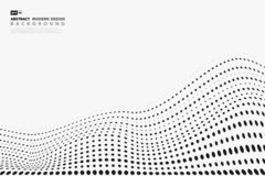 Abstract black halftone dots pattern design cover on white background. illustration vector eps10 royalty free illustration