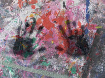 Abstract with black hands Stock Photography
