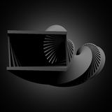 Abstract black helix object, 3 d render. Abstract black helix object, 3d render illustration royalty free illustration
