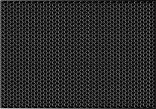Abstract black hexagon pattern design luxury background texture vector. Illustration Stock Photo