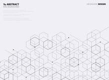 Abstract black hexagon pattern design on white background. illustration vector eps10 royalty free illustration