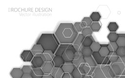 Abstract black hexagon. Vector Illustration Royalty Free Stock Images