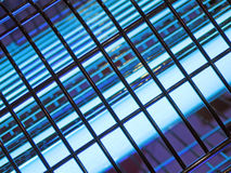 Abstract black industrial grid, blue lighting, Royalty Free Stock Photos