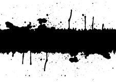 Abstract black ink splatter background element with a space.illu Royalty Free Stock Images
