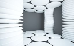 Abstract black interior with white columns Royalty Free Stock Photography