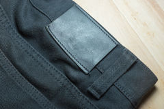 Abstract of black jean. Background texture Royalty Free Stock Photography