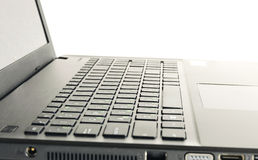 Abstract black laptop Stock Photos
