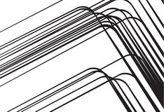 Abstract black lines background design elements Stock Photo