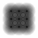 Abstract black mandala style illustration. Graphic object Stock Image