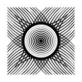 Abstract black mandala style illustration Stock Image