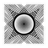 Abstract black mandala style illustration. Isolated graphic object Stock Image