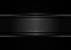 Abstract black metal pattern background design vector. Royalty Free Stock Images