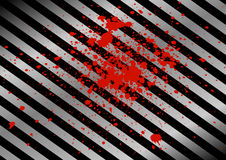 Abstract black and metal plate background and splatter red color Royalty Free Stock Images