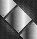 Abstract black metal technology background royalty free illustration