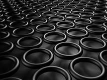 Abstract Black Metallic Round Shapes Design Background Stock Photos