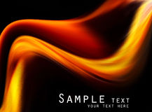 Abstract black and orange background Royalty Free Stock Photography