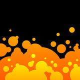 Abstract black and  orange background with bubbles Stock Photography