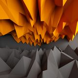 Abstract black and orange background. 3D rendering Stock Images