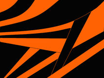 Abstract black and orange background Stock Images